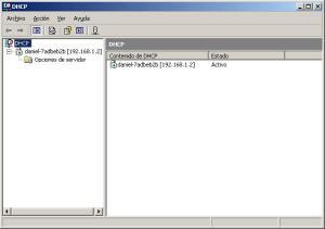 configuración de DHCP