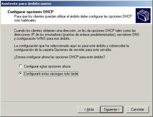opciones DHCP